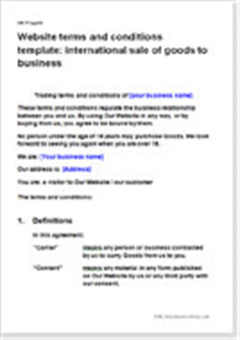 model terms conditions templates for websites