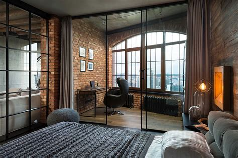 high  bachelor pad design stunning loft  kiev