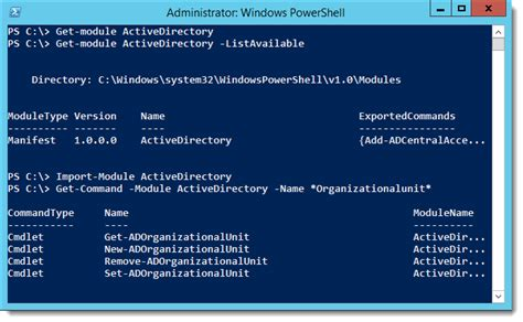 powershell   list   domain organizational units