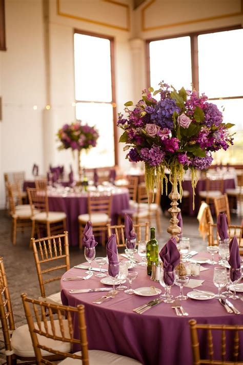 Purple Wedding Decor, Raspberry Plain Wedding Reception