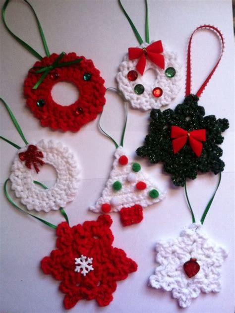 crochet christmas crafts 30 wonderful diy crochet ornaments