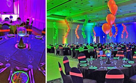 neon themed events neon balloon centerpiece the tickle trunk kelowna