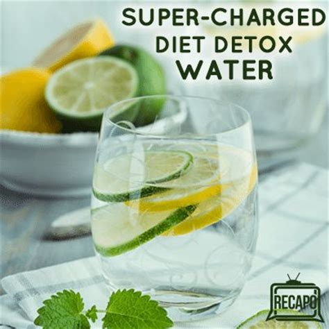 Water Fast Detox Headache by Dr Oz Charged Hormone Diet Detox Water Recipe