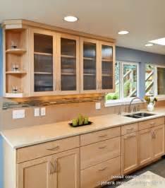 maple cabinets with caeserstone desert limestone