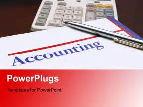 Accounting Powerpoint Templates by Accounting Book With Calculator And Pen On Desk