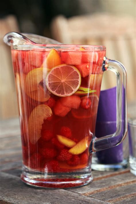 watermelon rose sangria recipe popsugar food
