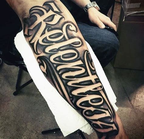 tattoo fonts men s 43 best forearm script tattoos images on