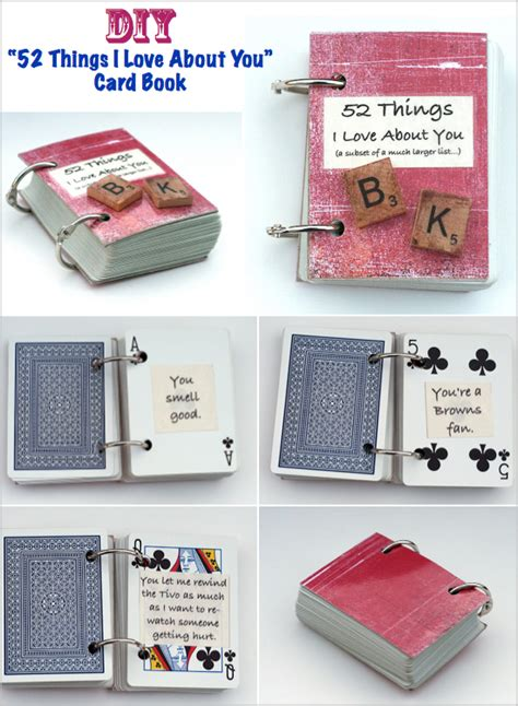 fun gifts ideas gift ideas quot 52 things i love about you quot get crafty