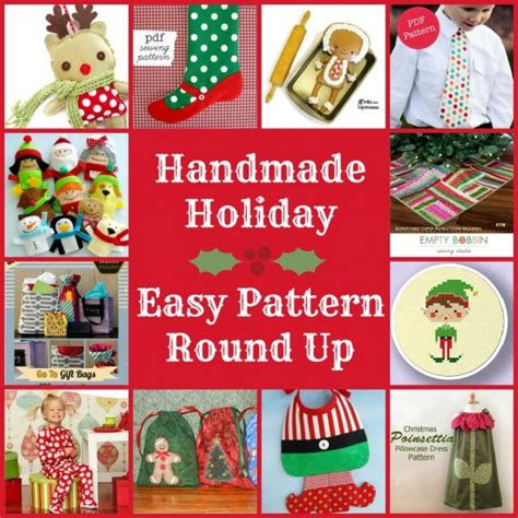 Sew Sew Handmade Holidays - easy sew patterns up of easy