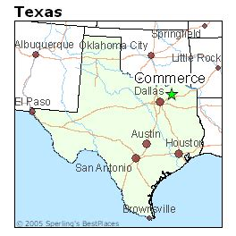commerce texas map best places to live in commerce texas