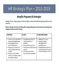 Hr Business Plan Template 44 strategic plan sles free premium templates