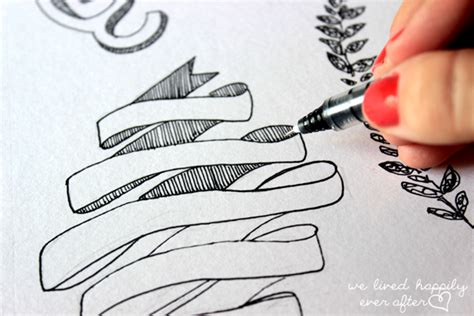 how to create digital doodle we lived happily after transfer your writing