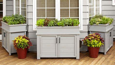 patio planter ideas deck and patio storage planter