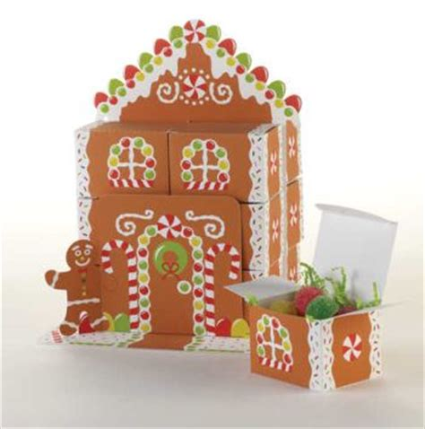 gingerbread house centerpiece w favor boxes christmas