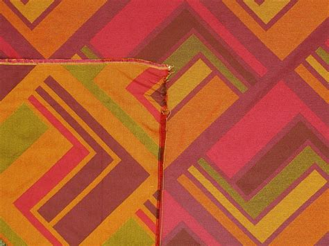 contemporary drapery fabric funky modern retro contemporary bold orange and pink