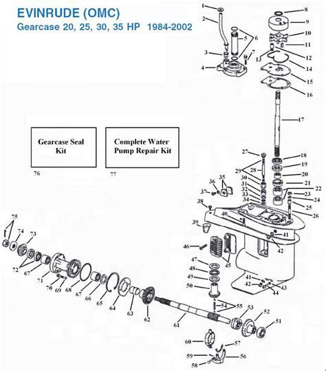 40 Hp Evinrude Lower Unit Diagram