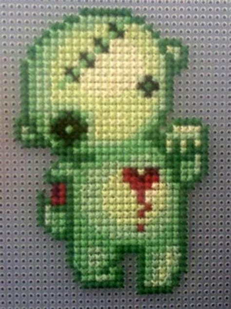 pattern zombie cute zombie needlearts counted cross stitch pinterest
