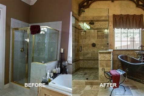 before and after master bathroom remodels old world master bathroom dfw improved 972 377 7600