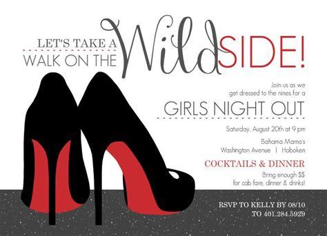 girls night  invitation templates