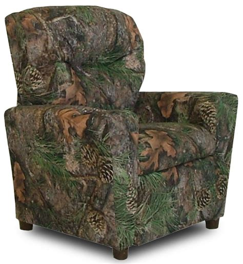 Youth Camo Recliner True Timber Fabric Theater Recliner With Cup Holder Camo Green Dzd9755 By Dozydotes