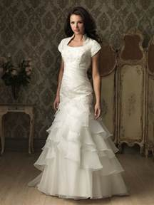 trumpet mermaid cap sleeve organza ruffles wedding dress
