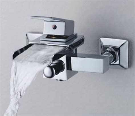 One Tub Faucet Single Handle Wall Mount Waterfall Bathroom Sink Faucet Or