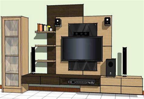 desain meja tv lcd desain gambar rak tv minimalis furniture rumah 1924