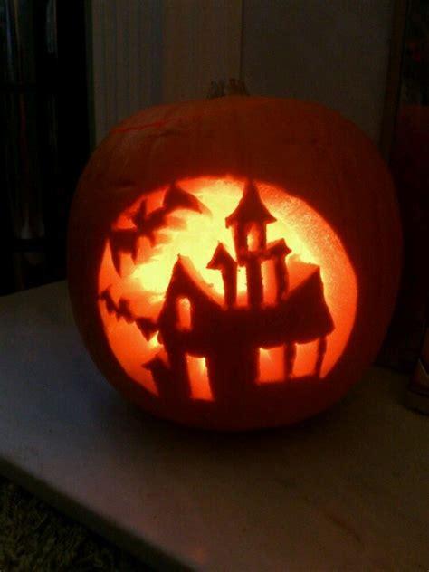 pumpkin pattern haunted house haunted house carved pumpkin carve it pinterest