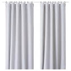 vilborg curtains 1 pair light grey 145x250 cm ikea