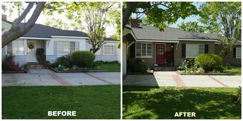 before and after home exterior paint reveal following friends