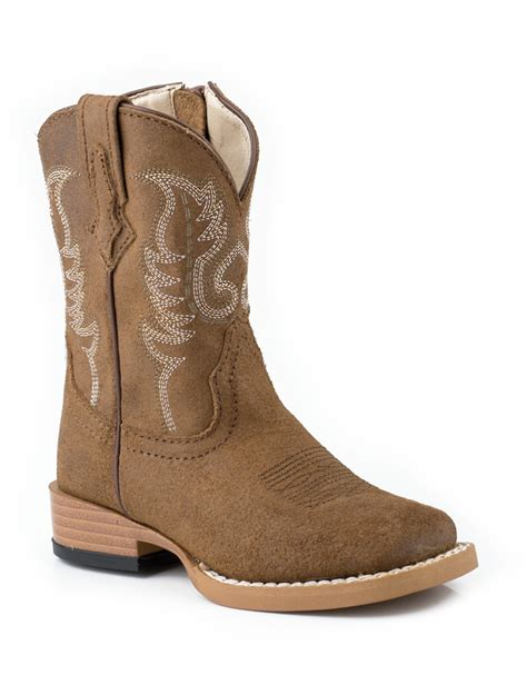 boys cowboy boots roper baby boys infant suede leather sq toe western