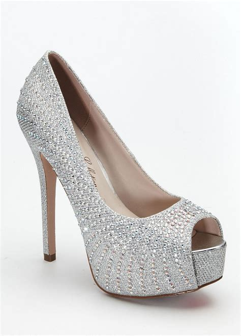 david s bridal wedding bridesmaid shoes high heel