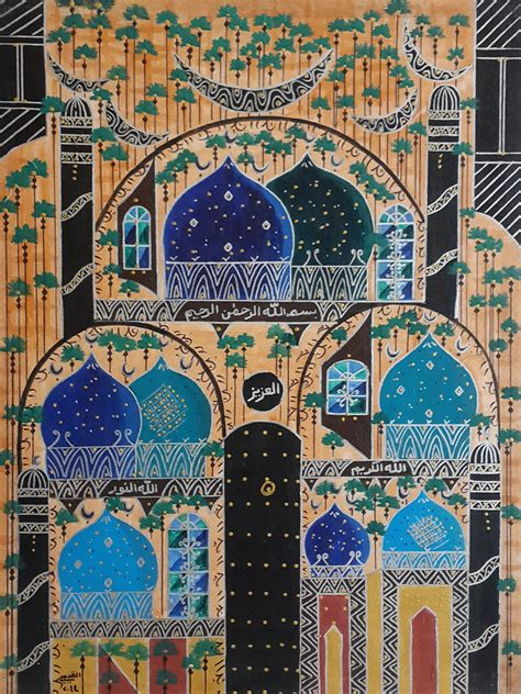 Islamic Artworks 40 on canvas modern islamic painting