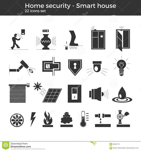 Smart Items For Home smart home vector icons stock vector image 83591731