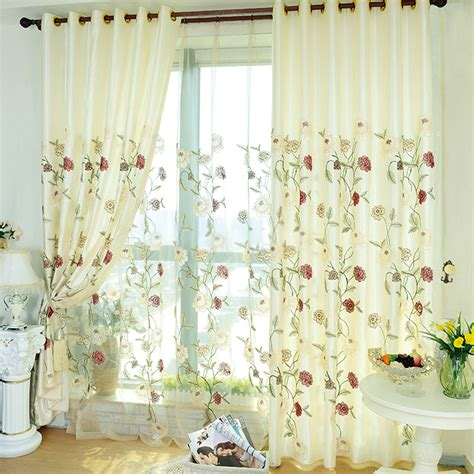 bedrooms curtains delicate floral bedroom curtains with embroidery patterns