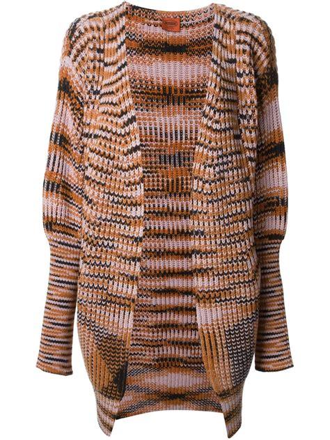 zig zag cardigan pattern missoni zig zag pattern chunky knit cardigan in multicolor