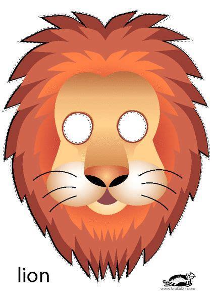 printable mask lion krokotak print printables for kids dierentuindieren