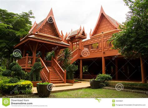 thai house royalty free stock photography cartoondealer