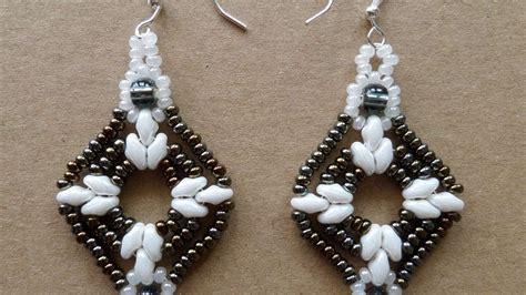 diy beaded earrings tutorial how to make sparkling beaded earrings diy style tutorial