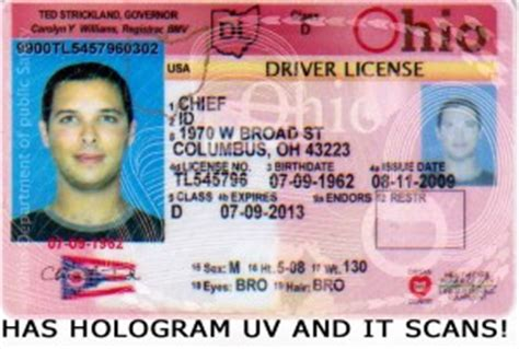 ohio drivers license template alpha id s