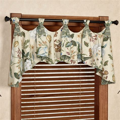 window valances garden images iii floral austrian valance window treatment