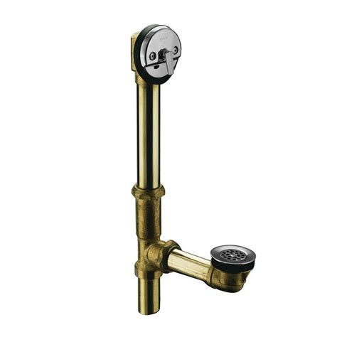 kohler bathtub drain swiftflo brass adjustable trip lever drain in polished