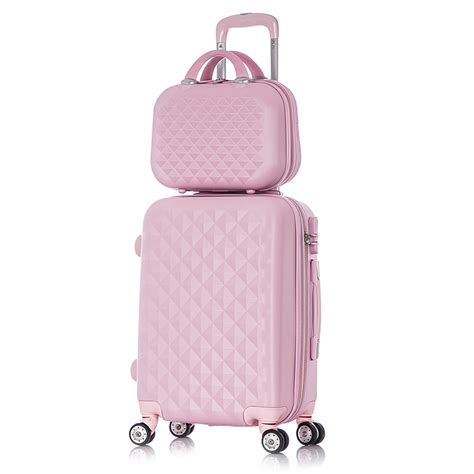 bags and suitcase pattern design software 20 quot 24 quot inch diamond pattern rolling luggage travel bag