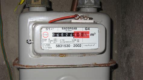 Meter Gas Gas Meter Half Year Italian