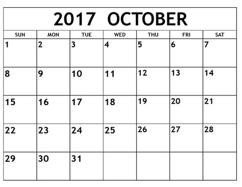 printable calendar 2017 legal size october 2017 calendar usa printable template with holidays