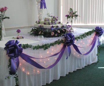 Tulle Wedding Reception Decorations