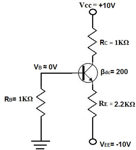 bjt transistor biasing what is negative voltage