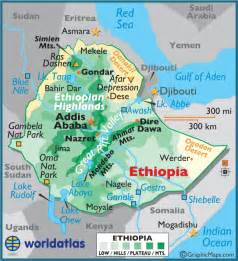 Ethiopia Map In World by Ethiopia Large Color Map