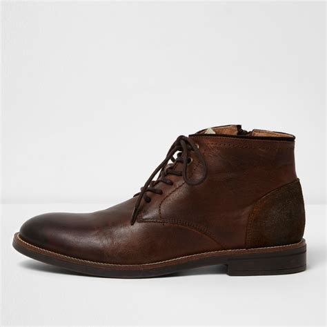 boots shoes brown leather chukka boots boots shoes boots