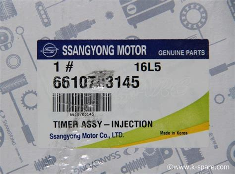 Injection Doowon Part No 33103 42480 ssangyong timer assy injection 66107 03145